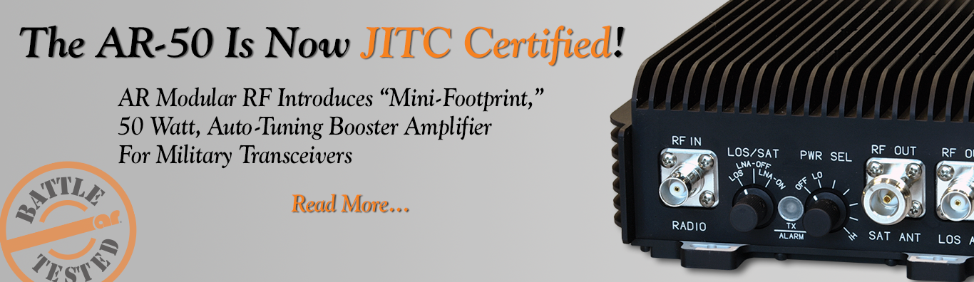 AR-50 is Now JITC Certified